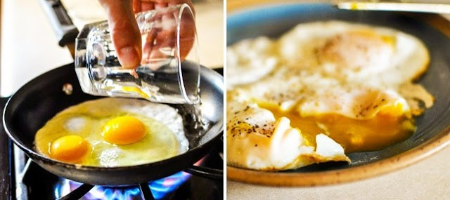 τέλεια τηγανητά αυγά