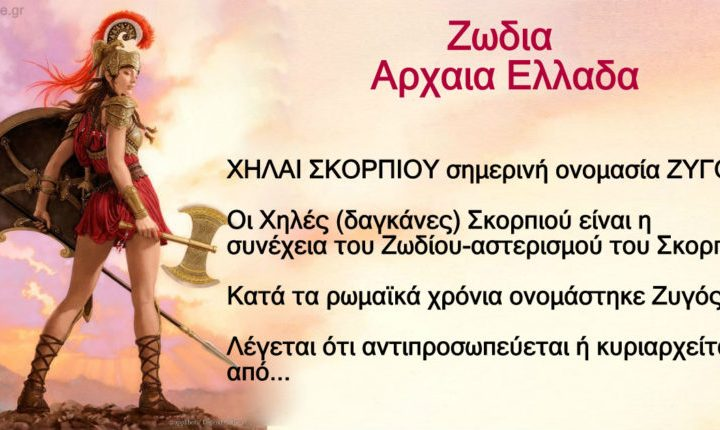 Στην Αρχαία Ελλάδα Είχαμε Άλλα Ζώδια Το Γνωρίζατε;