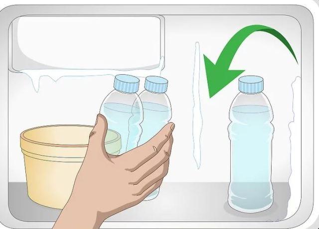 Τοποθετήστε τα μπουκάλια περίπου 15 εκατοστά