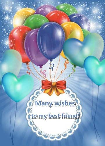 balloons hearts many wishes