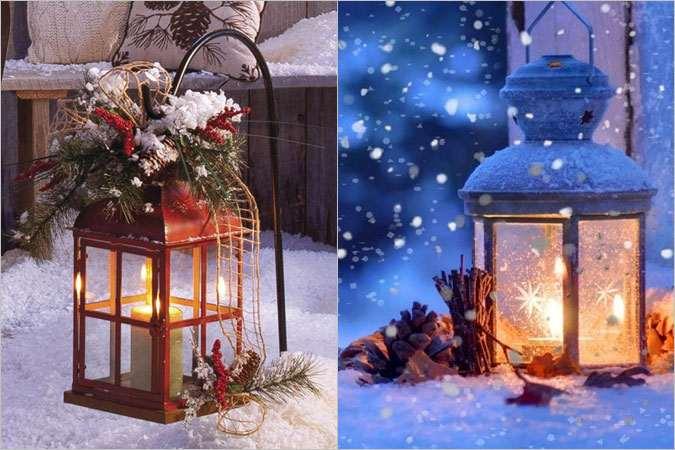 Χριστουγεννιάτικες ιδέες διακόσμησης με φαναράκια για ένα φωτεινό και γιορτινό σπίτι