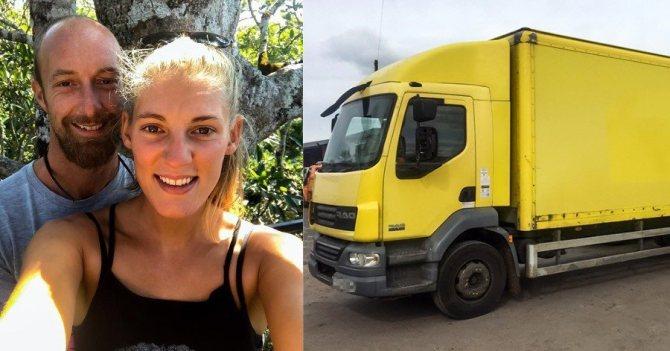 Ζευγάρι αγόρασε παλιό φορτηγό με 4.000€, το μεταμόρφωσε σε κινητό σπίτι και το εσωτερικό του εντυπωσιάζει