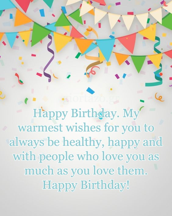 My warmest wishes for you