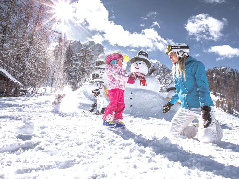 GG neve con i bambini