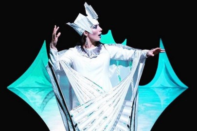 Teatro Colla con le sue marionette sul palco di gennaio