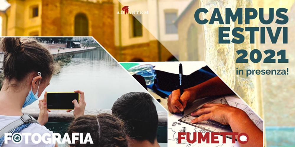 Fumetto e fotografia ai Campus estivi
