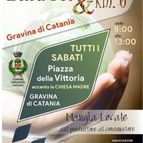 Locandina mercatino Etna Bio & Km0 - Gravina di Catania - Tutti i SABATO MATTNA - Piazza della Vittoria