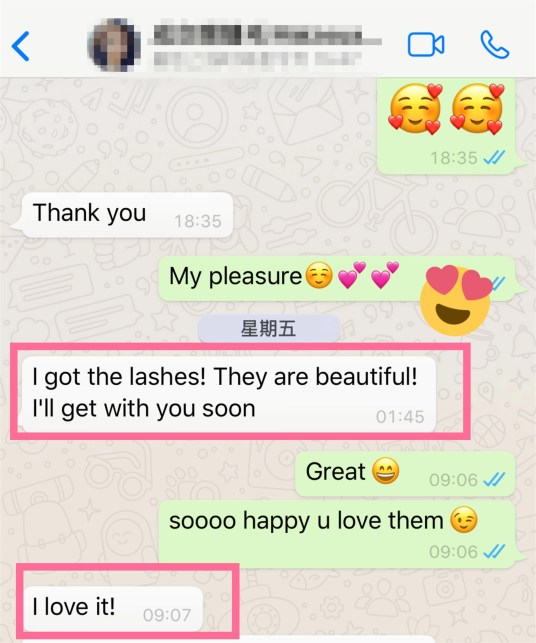Giovanni Lashes Vendor attaches great importance to customer reviews and suggestions