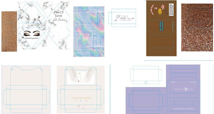 We will make a professional custom eyelash box design drawing for you, we are a professional custom eyelash box manufacturer