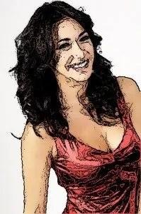 Melita Toniolo e look glamour