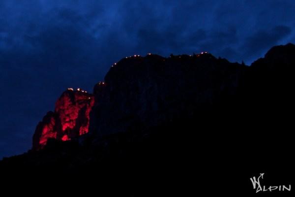 Rote Flüh bei Nacht