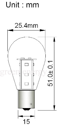 Bayonet Parallel Pin 15 LED Single Terminal Warm White