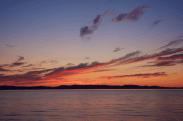 Sonnenuntergang über dem St. Lorenz Strom