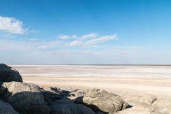 Ausblick auf die Makgadikgadi Pfannen