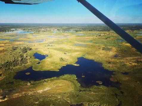 Flug über das Okavangodelta