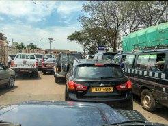 Uganda: Stau in Kampala