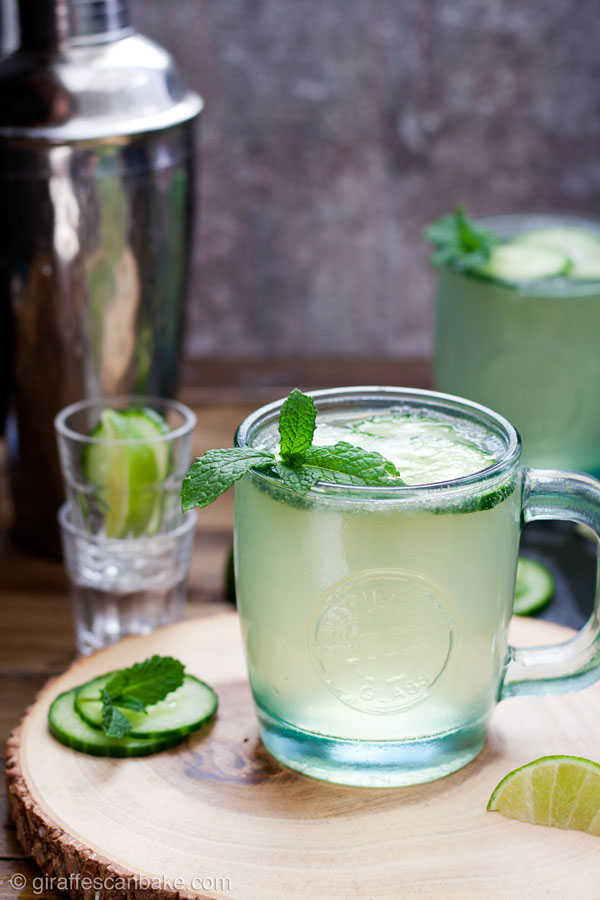 Cucumber and Mint French 75, also known as a Diamond Gin Fizz - this wonderfully refreshing summer cocktail is made with homemade cucumber gin, fresh mint and lime juice, served in a sours or hi ball glass and topped up with Champagne or Prosecco. It's the perfect summer cocktail