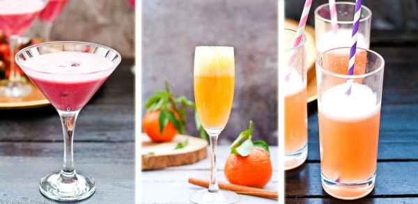 Pomegranate Martini, Spiced Clementine Bellini and Grapefruit and Thyme Fizz (mocktail) - Three amazing holiday cocktails that are totally delicious, really festive and are quick and easy to make in your Vitamix!