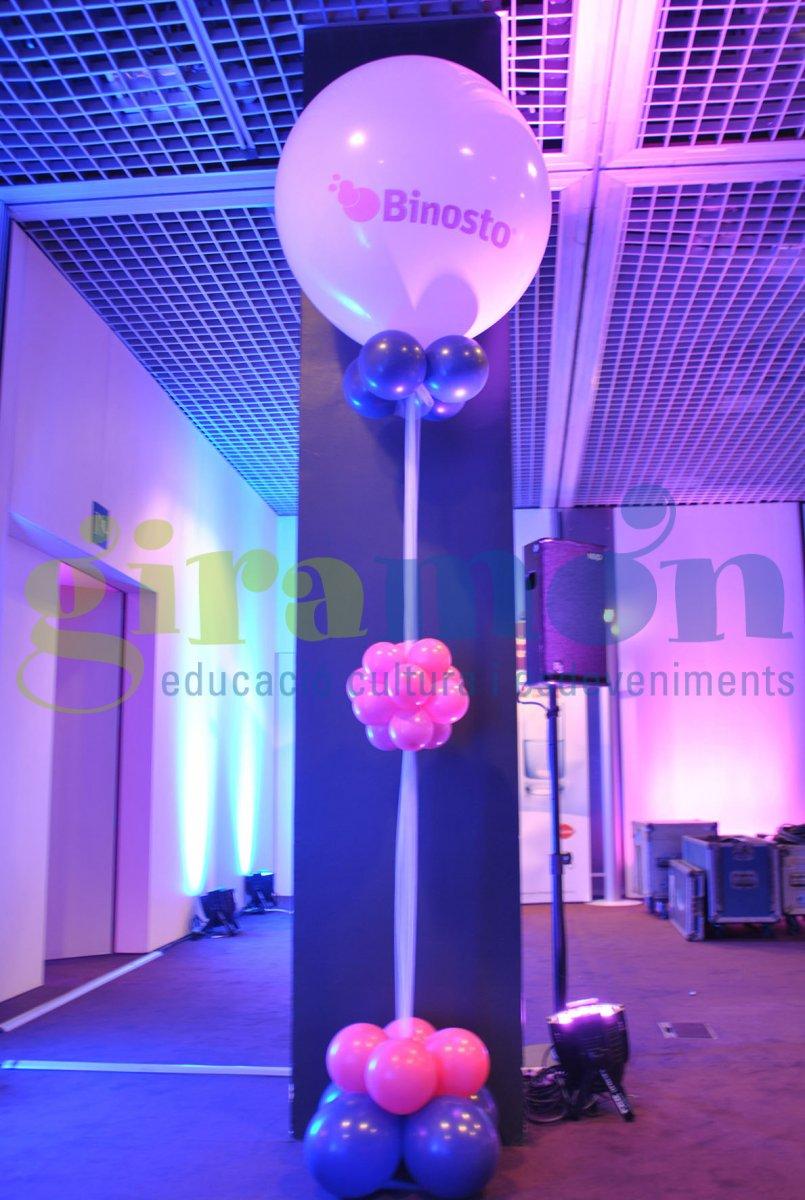 Columna globos personalizados  Giramn  Giramn