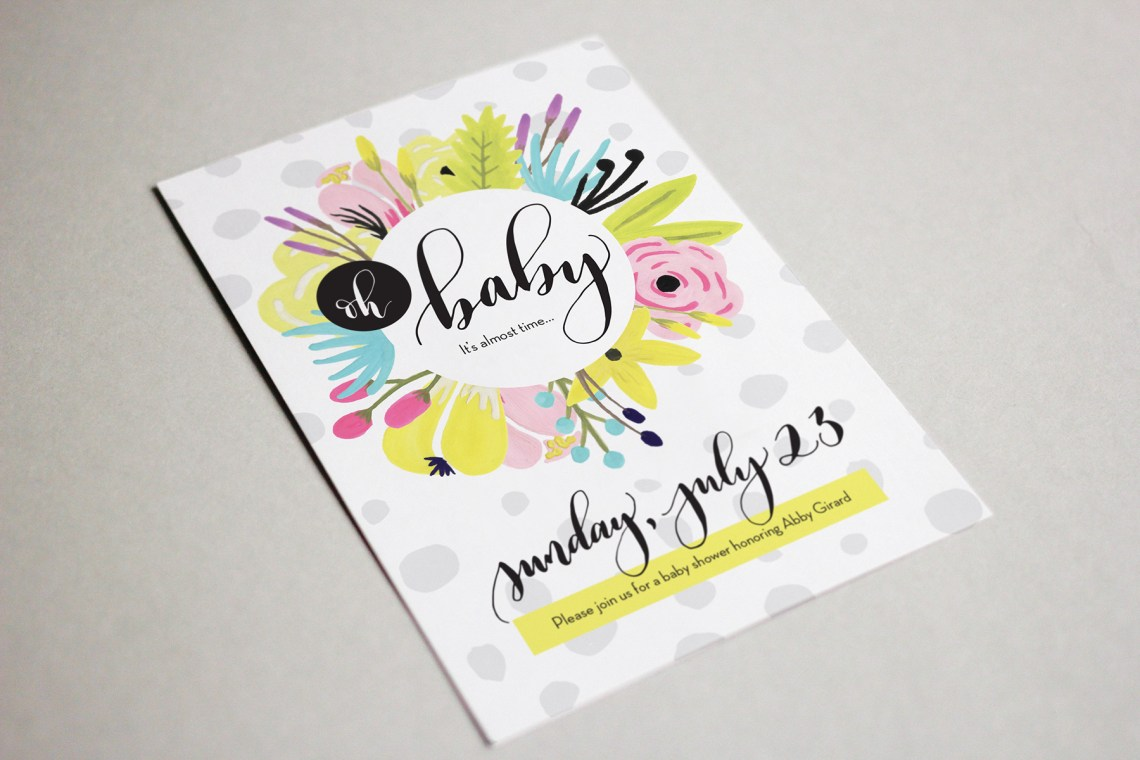Abby Shower Invitation