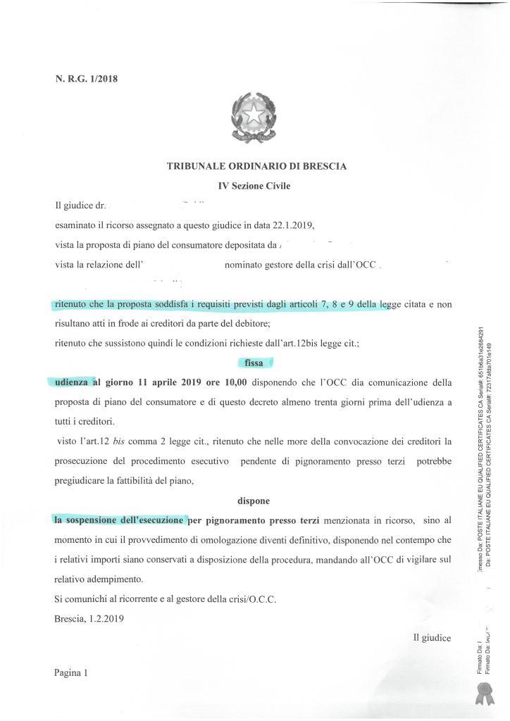 Laura Girelli Sara Girelli Studio Legale Girelli Avvocato Girelli Brescia Sovraindebitamento Piano Consumatore Liquidazione Patrimonio L.3/12