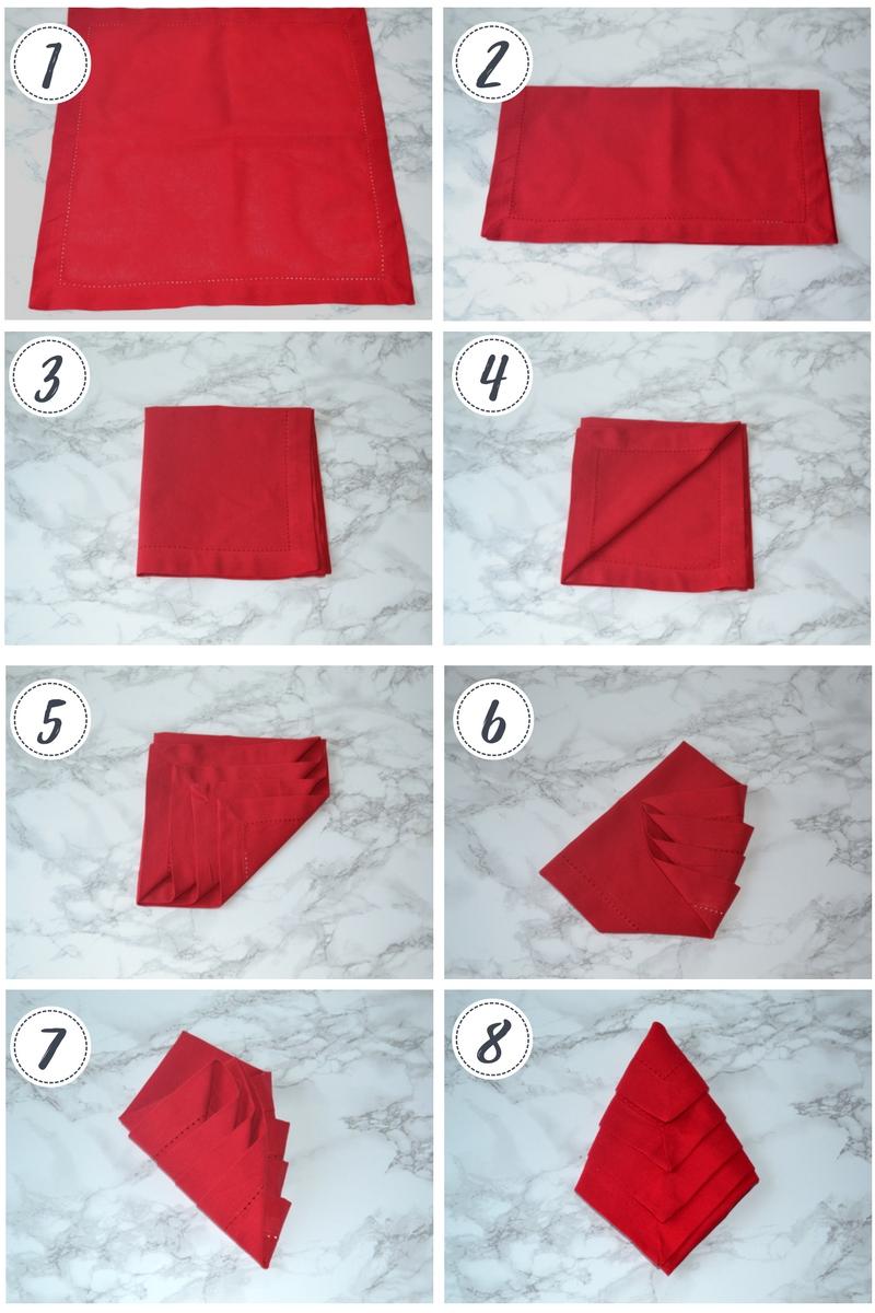 Napkin Folding Christmas.Table Napkin Folding Tutorial Loris Decoration