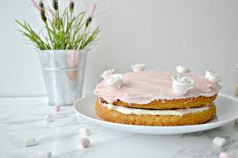 Cherry Almond Victoria Sandwich Cake - Girl about townhouse