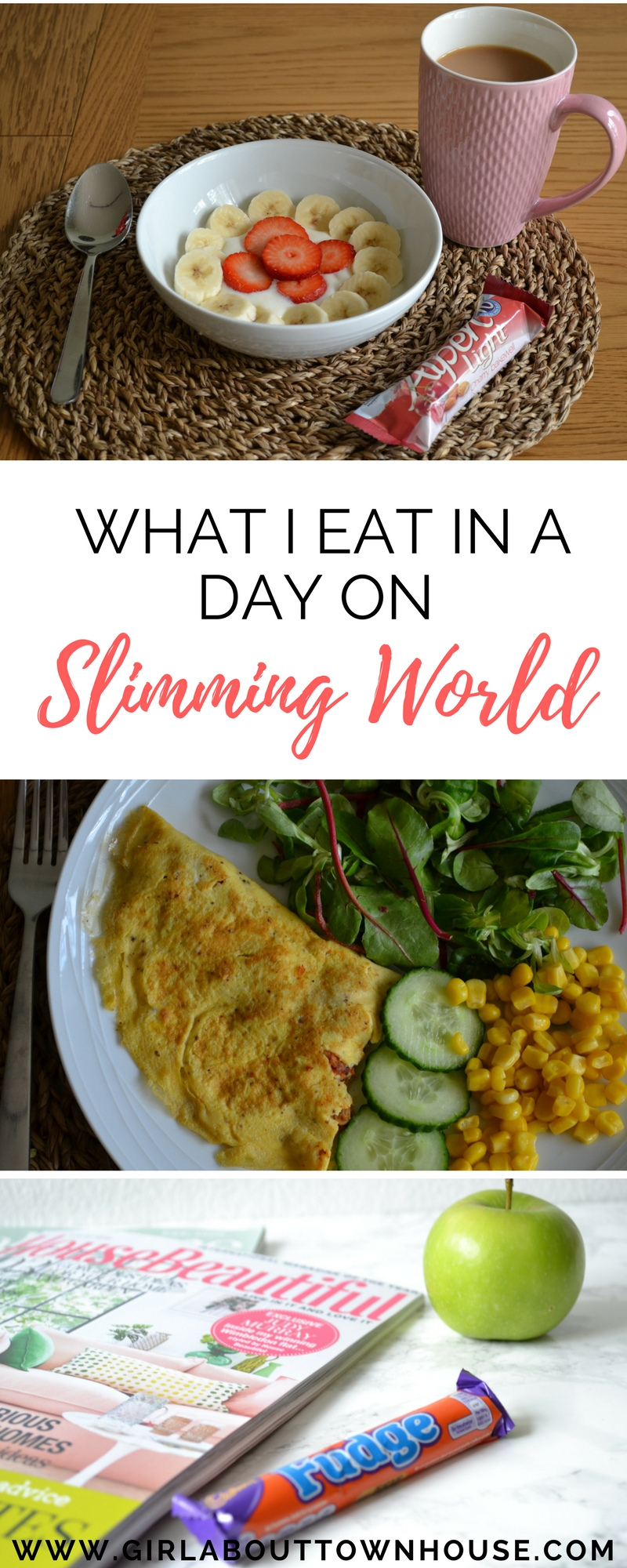What I eat in a typical day following the Slimming World plan. I'll be giving you a sneak peek into breakfast, lunch and dinner as well as free foods and syns. I'll also be sharing my weight loss tips and slimming resources.