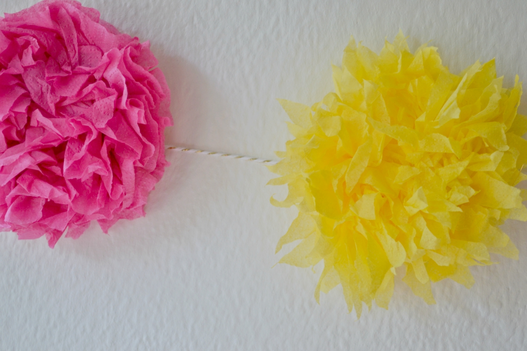 Flower making with napkins! Wreaths & garlands.