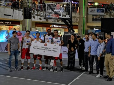 3 on 3 Shooting Baskets at the first-ever Vivo HoopBattle Championship