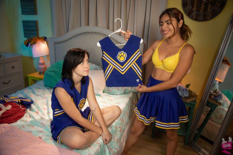 Hazel Heart and Remi Jones Cheer Squad Tryouts   Girlfriends Films