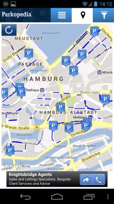 Parkopedia Amburgo