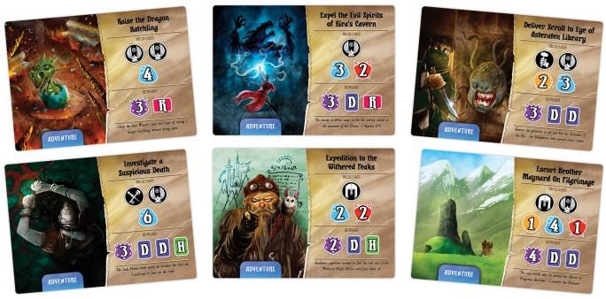 Quests of Valeria Quest Cards