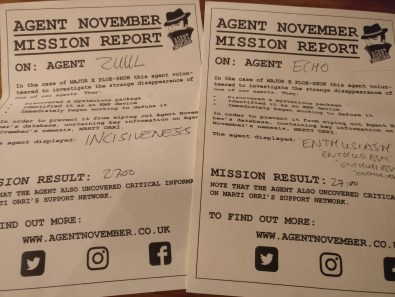 Agent November mission report UK Games Expo 2017