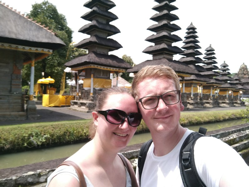 Bali Honeymoon Taman Ayun Temple Arran and Claire