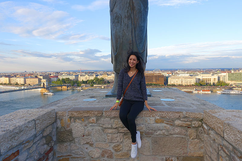 On top of Buda Castle, Budapest, Hungary.