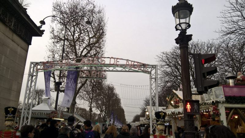 Champs Elysees Arc De Triomphe, Paris Christmas Market