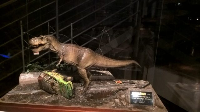 A model of a scene from Jurassic Park (Movie) at the Cinema Museum