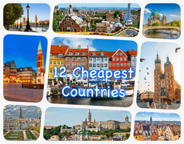 12 cheapest countries