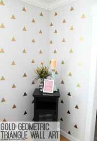 Gold Geometric Triangle Decal Wall Art - Girl Loves Glam