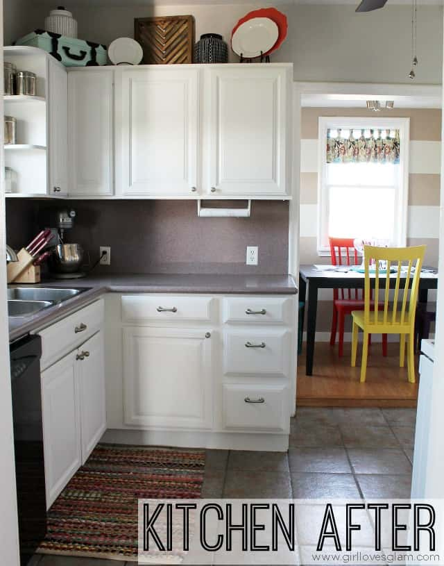 How To Paint Cabinets And Add Hardware Kitchen Makeover Girl