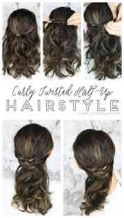 easy curly twisted - hairstyle