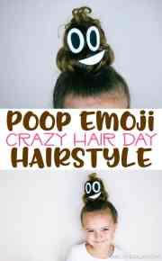poop emoji hairstyle crazy