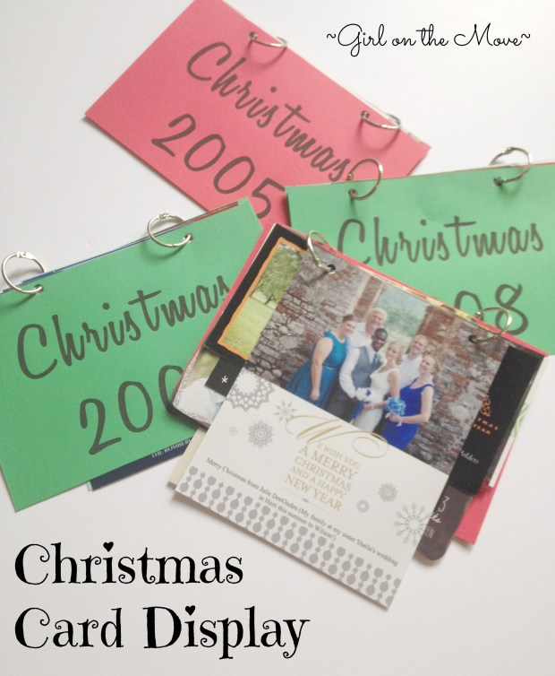 Christmas Card Display #merryblogmas