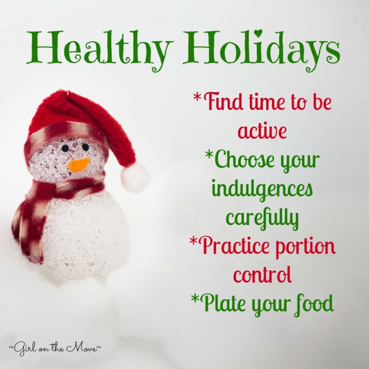 Sharing tips for staying healthy during the holiday season