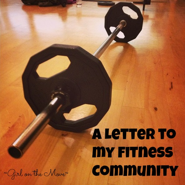 A Letter to my Fitness Community