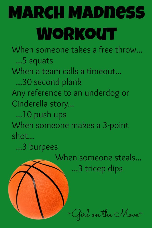 March Madness workout for while you watch basketball