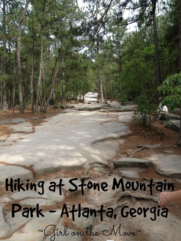 Hiking at Stone Mountain Park in Atlanta Georgia