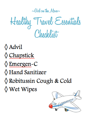 Stock up on healthy travel essentials with this printable