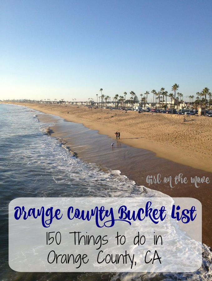 An Orange County Bucket List for your trip to California with 150 suggestions to help you plan things to do, beaches to visit, hikes, and cupcakes to eat!
